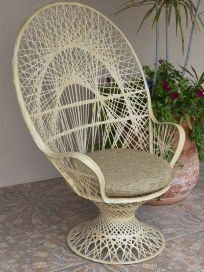 Large Peacock Chair w/Arms or Without, 22&quote